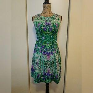 EUC Cynthia Rowley Fit and Flare Water Color Dress
